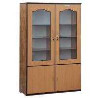 Tủ hồ sơ  cửa gỗ+kính, GG+MDF