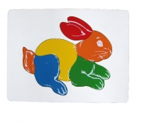 Tranh ghép con thỏ
