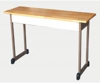Bàn HS 2 chỗ mặt gỗ ghép (1,2x0,45x0,75)cm